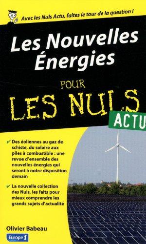 Les Nouvelles Energies pour les Nuls Actu
