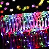 LED Ghirlanda luminosa,KINGCOO Impermeabile 39 ft/12M 100 LED Aspirante a Energia Solare Tubo Flessibile Rope Filo di Rame di Natale Stellate di luci per il Matrimonio Outdoor Garden Party (Multicolore)