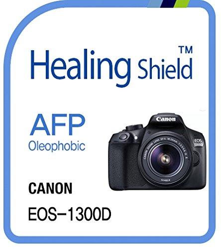 Healingshield Protectores de pantalla Oleophobic AFP Clear Film for Canon Camera EOS-1300D [2pcs]