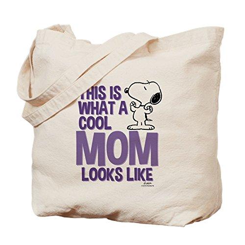 CafePress–Snoopy Cool Mom–Leinwand Natur Tasche, Reinigungstuch Einkaufstasche