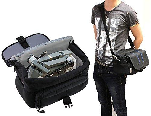 Navitech schwarz wasserdicht Schulter Tasche / Tasche / Cover für die DJI Mavic Pro Drone