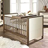 Izziwotnot Latitude 5 Piece Cot Bed Furniture Room Set, Ivory/Walnut