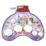Tosbess Batteria Tappeto Musicale Drum da Tavolo Gioco per Bambini