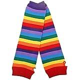 Xmiral Damen Tüllröcke Handschuh Socken 3PC Regenbogen Tutu Rock Party Zubehör Set(Handschuh)