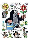 1art1 91457 Der Kleine Maulwurf - Gardening Wand-Tattoo Aufkleber Poster-Sticker 85 x 65 cm