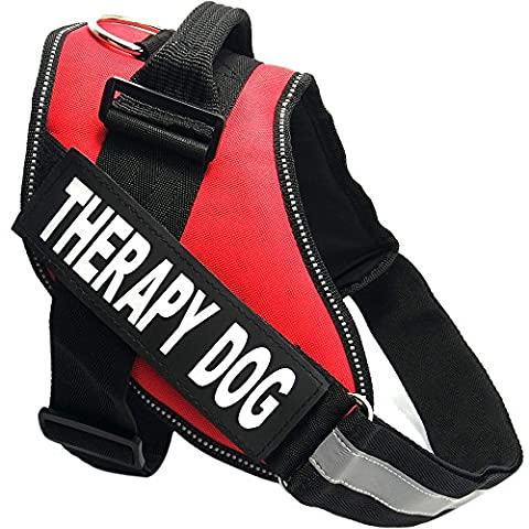 Treat Me Therapy Dog Vest Harness for Pet Adjustable and