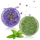 2 Stücke Shampoo Bar, Phogary Haar Seife (Jasmin + Honey) verschiedene Duft-Pflanzenessenz-Shampoo natürlich für trockenes u. Geschädigtes Haar - Hilfen stoppen Haar-Verlust und fördern gesundes Haar