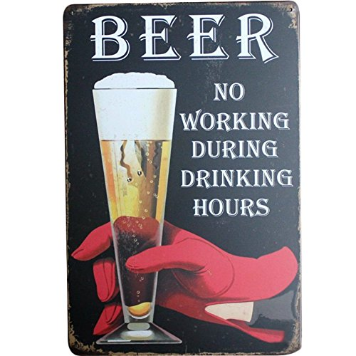 fablcrew Blechschild Metall Werbung Wand Schild Bier für Poster Wall Bar Coffee Shop, metall, BLACK BEER, 30cm*20cm (Black-schild)