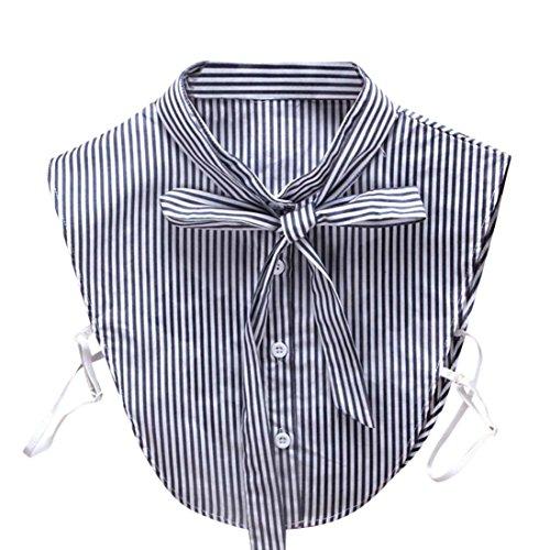 Haifisch Blau Kostüm Weiß Und - Kanpola Damen Kragen Bluse Top Elegant Abnehmbare Blusenkragen Shirtkragen Topkragen Weiß/Grau (Blau Z1)