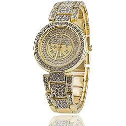 Fashion Women Rose Gold Watch Stainless Steel Luxury Rhinestone Watches Ladies Brand Quartz Watch Relogio Feminino BWSB1599