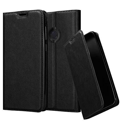 Cadorabo Hülle für Xiaomi Mi Max 3 - Hülle in Nacht SCHWARZ - Handyhülle mit Magnetverschluss, Standfunktion & Kartenfach - Case Cover Schutzhülle Etui Tasche Book Klapp Style
