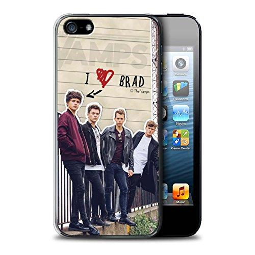 Officiel The Vamps Coque / Etui pour Apple iPhone SE / Pack 5pcs Design / The Vamps Journal Secret Collection Brad