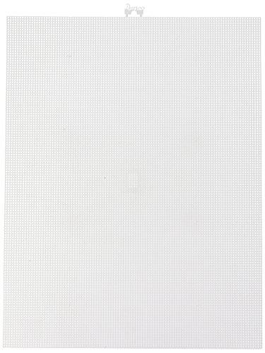 Darice Canvas Plastic, rechteck weiß ,26.7 x 34.3 x 0.3 cm Mesh 10