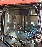 Cortina enrollable para Tractor y Maquinaria Agricola. Instalación en el interior del vehículo. Sistema permanente, adhesivado al cristal. Especial vidrios curvados. Adhesivo UV 50 Ultra Violeta. Soportes bisagra bascuntes, se adaptan a la curvatura ...