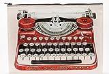 Jumbo Pouch TYPEWRITER von Blue-Q Groß Schreibmaschine 95% Recycling Reisetasche