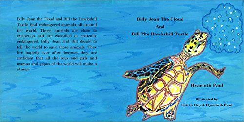 Billy Jean The Cloud And Bill The Hawksbill Turtle: Billy Jean The Cloud And Bill The Hawksbill Turtle Save Endangered Animals (English Edition) - Baby-billy Jeans