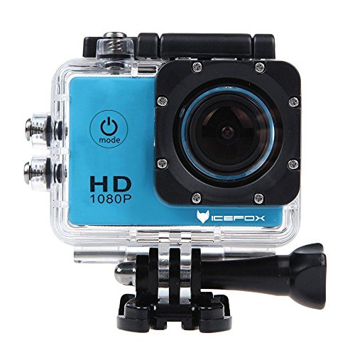 icefox FHD Unterwasser-Action-Kamera, 12MP, 1080P, wasserdichte HD-Kamera mit 170¡ã Weitwinkel, 1,5 Zoll-Display, 900mAh Batterie und Zubeh?r-Kitt f¨¹r zum Tauchen, zumFahrrad fahren, zum Motorrad fahren und zum Schwimmen