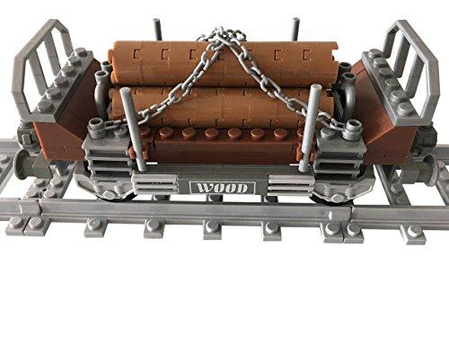Lego City kompatibel Waggons Holzwaggon Neu