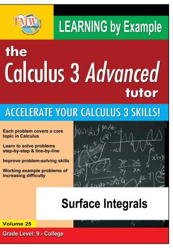 Preisvergleich Produktbild Calculus 3 Advanced Tutor: Surface Integrals