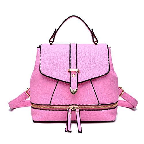 Mefly Borsa a tracolla Ladies College Style croce obliqua borsa blu cielo Pink