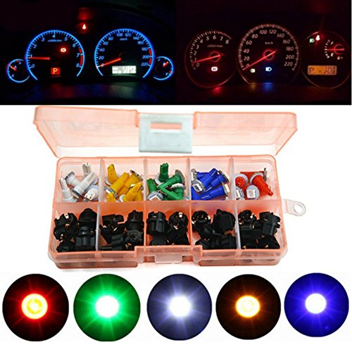 Haichen Lot de 30 (1 Set) T5 1smd 5050 LED Tableau de bord Jauge de Cluster Dash lumière pour auto moto