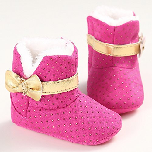 Fire Frog Baby Girl Snow Boots, Baby Mädchen Krabbelschuhe & Puschen Rose