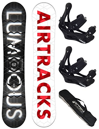 AIRTRACKS SNOWBOARD SET / LUMINOUS SNOWBOARD ROCKER + BINDUNG SAVAGE + SB BAG / 152 157 159 162 / cm