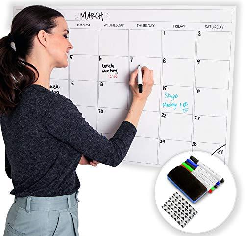 lender, trocken abwischbar, laminiert, 61 x 91,4 cm, Größe 2019 New Clean Design, Premium-Monatsplaner für Büro, Klassenzimmer und Zuhause ()