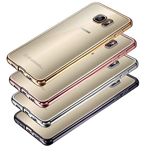 Eximmobile Chrom Case für Samsung Galaxy A3 2017 | Handyhülle in Anthrazit aus Silikon Cover | Schutzhülle aus hochwertigem TPU | Handytasche mit gutem Schutz | Handy Tasche Etui Hülle für Rückseite