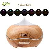 Allin Exporters Ultrasonic Aroma Diffuser & Humidifier Essential Oil - 300 ML Body Aroma Diffuser With 7 Different Colors Changing LED Lights & Cool Mist