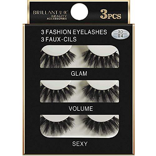 SMILEQ 3 Paar 3D Lange Falsche Wimpern Make-Up Natürliche Gefälschte Dicken Schwarzen Augen...