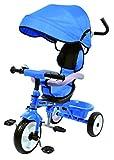 Kids Easy Steer Pedal triciclo Buggy Cochecito con gamuza de Oxford (Ricco xg18859azul)