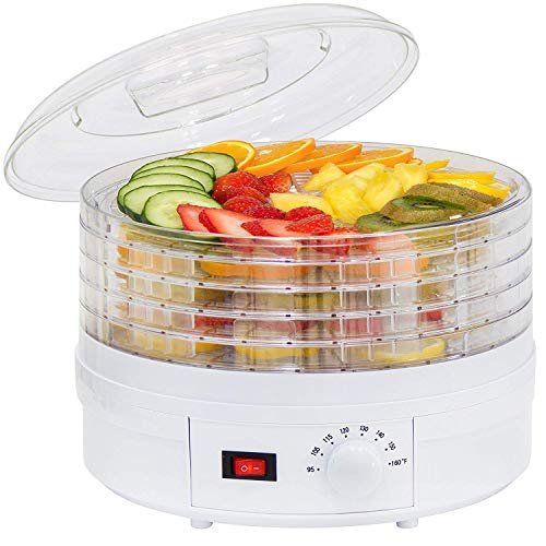 Piyuda Electric Countertop Food Dehydrator, Preserver Jerky Maker, White
