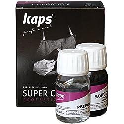 Kaps - Tinte para zapatos de piel sintética y natural, 70colores negro 118 - black