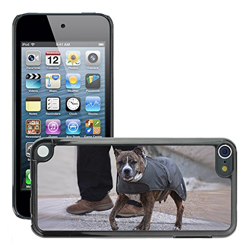 Carcasa Funda Prima Delgada SLIM Casa Case Bandera Cover Shell para // M00113416 Dog Jacket Pet Canine Wearing // Apple ipod Touch 5 5G 5th