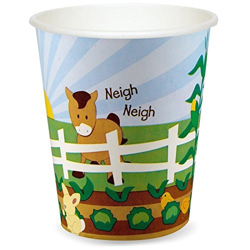 Farm Animal Party Supplies - 9 oz. Paper Cups (8) by BirthdayExpress