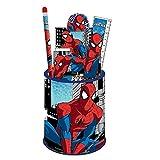 Pot à crayons + fournitures Spider-man - Scolaire/Bureau - 7 pieces