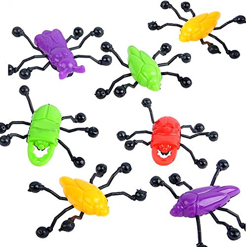 - 12 x Kletter Käfer ┃ Mitgebsel ┃ Kindergeburtstag ┃ Wand Krabbler ┃ 12 Stück (Süßes Skelett Make-up Für Kinder)