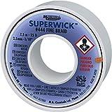 MG Chemicals, Super Wick, treccia dissaldante n. 4, fine, con flussante RMA, 25' Length, 1