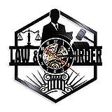 SSCLOCK Anwaltskanzlei Gerichtssaal Dekor Anwalt Wanduhr Anwalt Schallplatte Wanduhr Gesetzesordnung Pass The Bar Geschenk