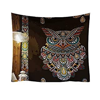 Artistic9 Tapestry Wall Hanging Mandala Tapestry Polyester Hippie Tapestries Fresh Style Tablecloth Home Decor Couch Cover for Bedroom Dorm Living Room-95x73cm 1PC