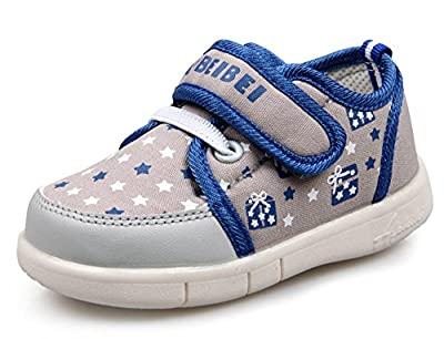 LISA HANDMADE Babies' Canvas Sneakers Toddler's Walking Cycling Shoes from LISA HANDMADE