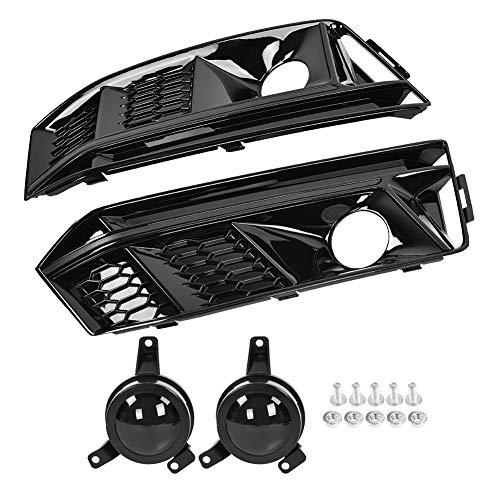 Outbit Nebelscheinwerfergrill - 1 Paar für S4 Style Honeycomb Frontstoßstange Nebelscheinwerfergrill mit Acc für Audi A4 S-Line B9 17-18.