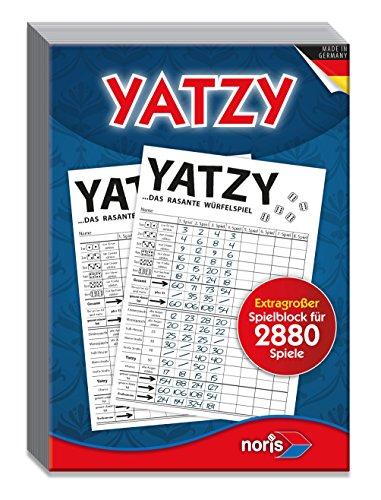 Noris 606194320 - Yatzy, Spielblock im Maxi-Format -