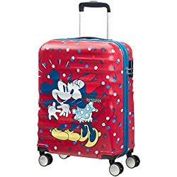 American Tourister Disney Wavebreaker, Spinner, S (55cm-36L), Multicolor (Minnie Loves Mickey)