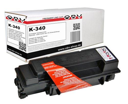 Preisvergleich Produktbild OBV Rebuild Toner ersetzt Kyocera TK-340 / 1T02J00EU0 , Kapazität 12000 Seiten , schwarz, FS-2020D