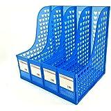 DivineXt Multifunction Plastic Storage Hanger 4 Section Divider File Paper Magazine Rack Holder Office Home Desktop Book Box Bookshelf