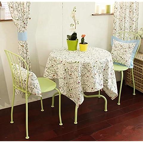 ZHEN Moderno minimalista piccolo floreale in cotone e lino tovaglia , 140*140
