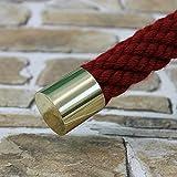 Seilendkappe Messing für 30mm Handlaufseil