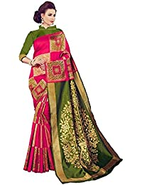 Fashionesta Multi Color Fancy Partywear Bhagalpuri Khadi Silk Saree (4-Color)